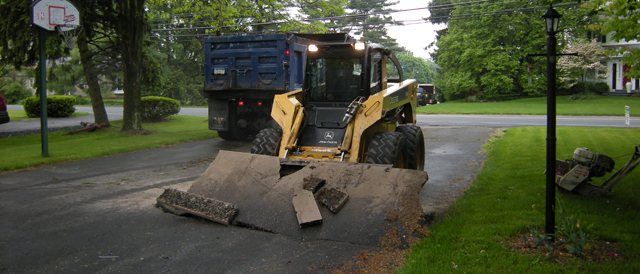 Asphalt Paving Contractor removing driveway in whitehall pa