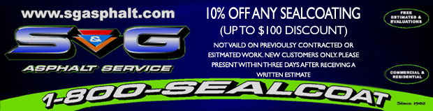 10% off sealcoating services